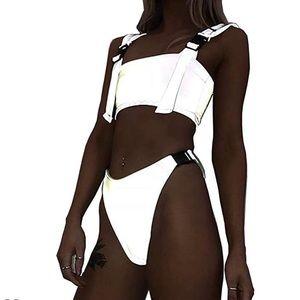 Reflective bikini/rave outfit!